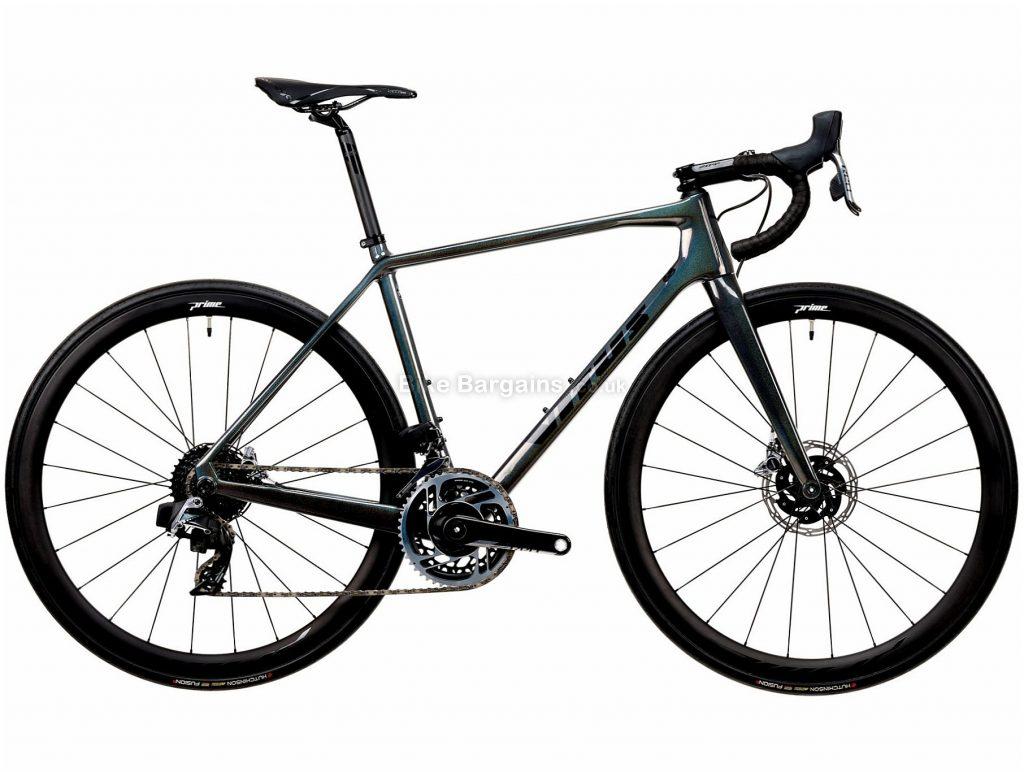 Vitus Vitesse EVO CRX Red eTap Carbon Road Bike 2020 XXL, Green, Black, 24 Speed, Carbon Frame, 700c Wheels, Disc Brakes, 7.72kg