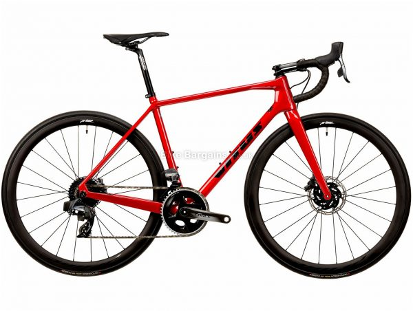 Vitus Vitesse EVO TEAM Force eTap Carbon Road Bike 2020 XXL, Red, Black, 24 Speed, Carbon Frame, 700c Wheels, Disc Brakes, 8.23kg