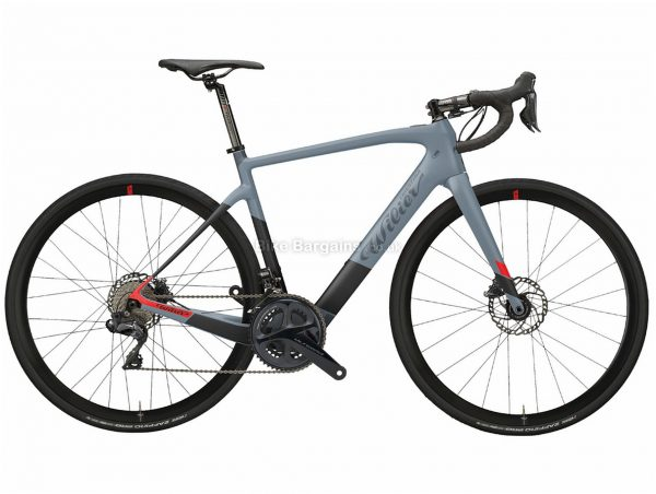 Wilier Cento1 Hybrid Ultegra Carbon Electric Bike L, Blue, Black, Red, Disc, 22 Speed, Double Chainring, Carbon Frame