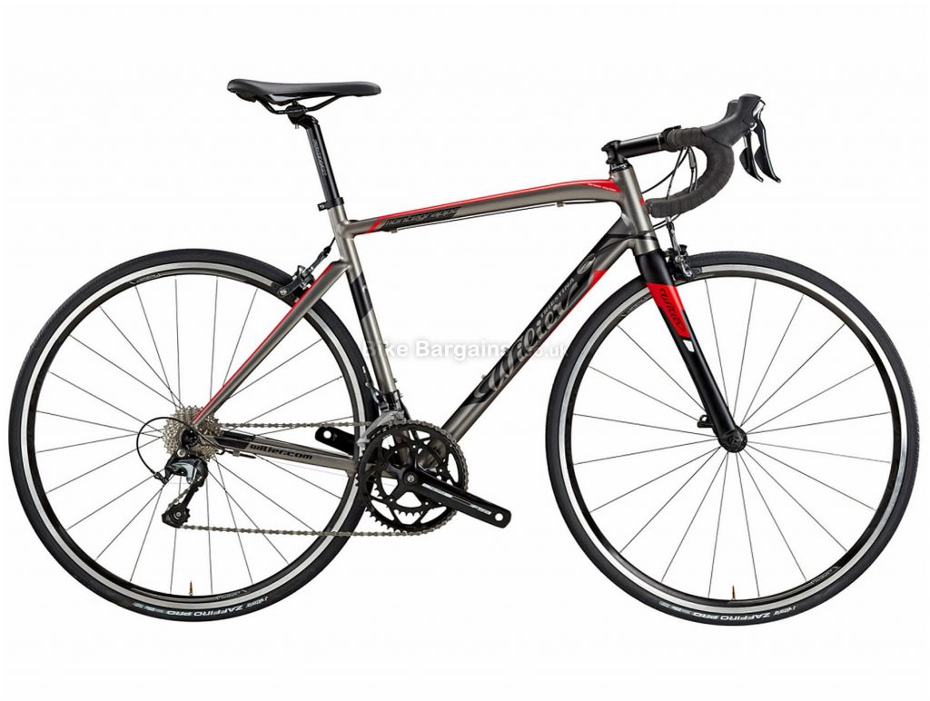Wilier Montegrappa Tiagra Alloy Road Bike S, Grey, Red, Alloy Frame, Caliper Brakes, 20 Speed, 700c Wheels, Double Chainring
