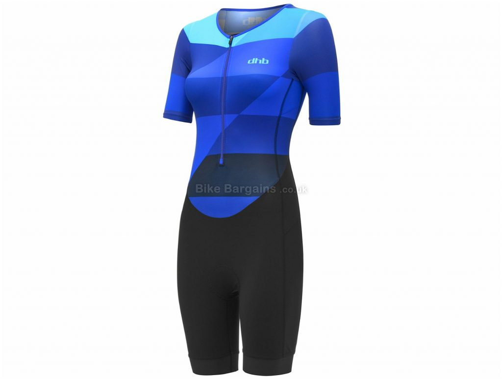 dhb Classic Ladies Short Sleeve Tri Suit 16, Pink, Black, Ladies, Short Sleeve, Polyamide, Elastane