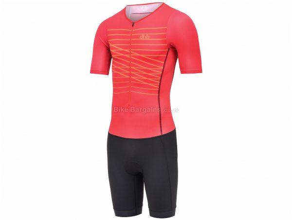 dhb Classic Short Sleeve Tri Suit S, Green, Black, Men's, Short Sleeve, Polyester, Elastane, Polyamide