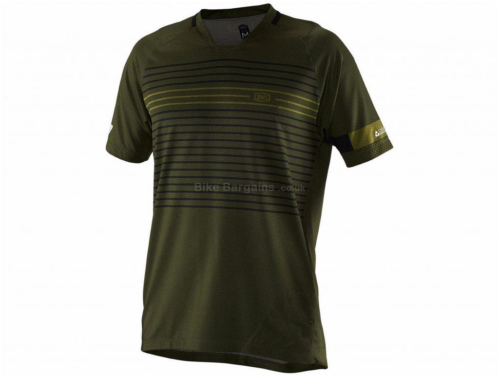 100% Celium Short Sleeve Jersey S, Black, Short Sleeve, Men's, Polyester