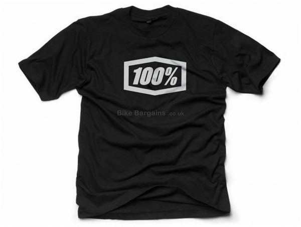 100% Essential Short Sleeve T-Shirt XL,XXL, - S are extra, Black, Short Sleeve, Cotton, Polyester