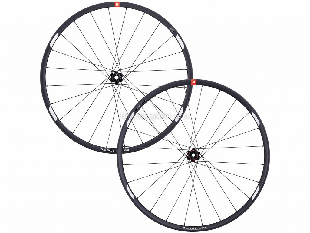 "3T Discus C25 Pro Wheels 650c, 27.5"", Black, Front & Rear, 1.65kg, Alloy"