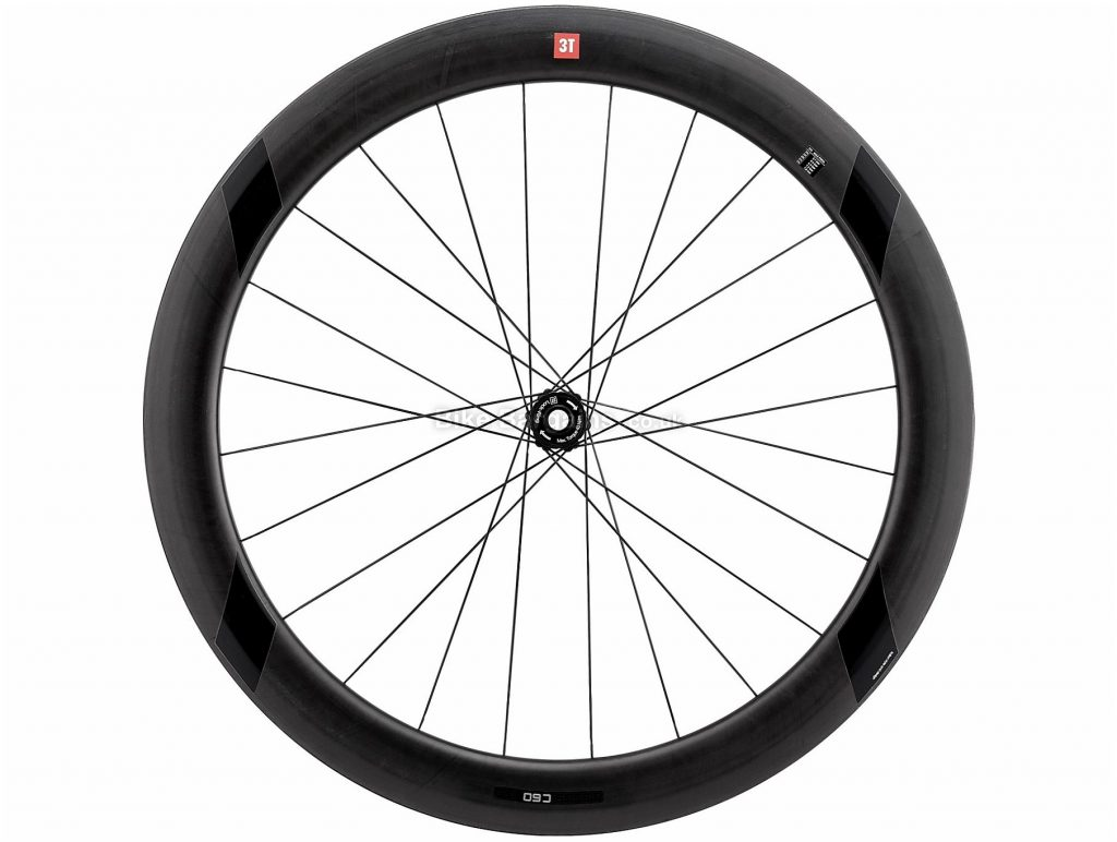 3T R Discus C60 TR Team Stealth Front Road Wheel 700c, Front, Black, 875g, Carbon