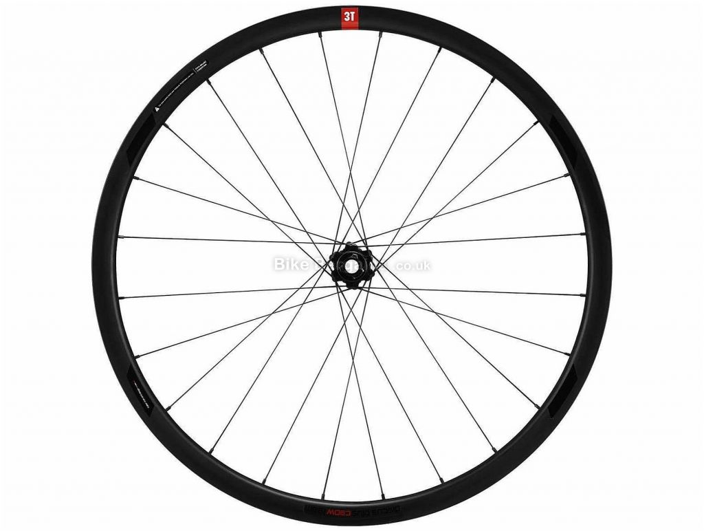 "3T R Discus Plus C30W Lighter Rear Gravel Wheel 27.5"", Rear, Shimano, SRAM, Black, Carbon"