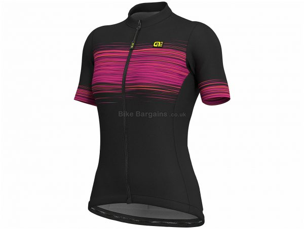 Ale Ladies Solid MC Start Short Sleeve Jersey XL,XXL, Black, Pink, Short Sleeve, Ladies, Polyester, Elastane