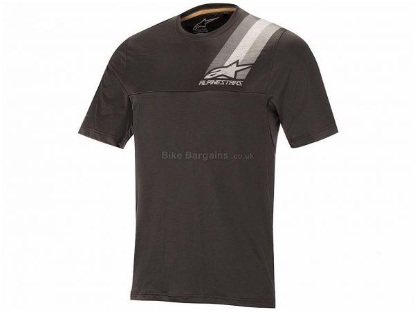 Alpinestars Alps 4.0 Short Sleeve Jersey S, Grey, Orange, Short Sleeve, Polyester, Elastane