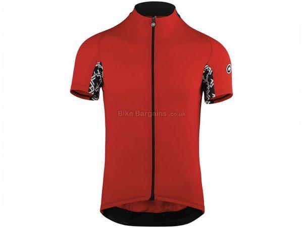 Assos Mille GT Short Sleeve Jersey S, Red, Black, Men's, Short Sleeve, Polyester, Polyamide, Elastane