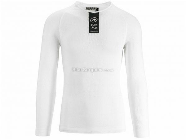 Assos Skinfoil Long Sleeve Base Layer XS,S, White, Men's, Long Sleeve, Polyester, Elastane