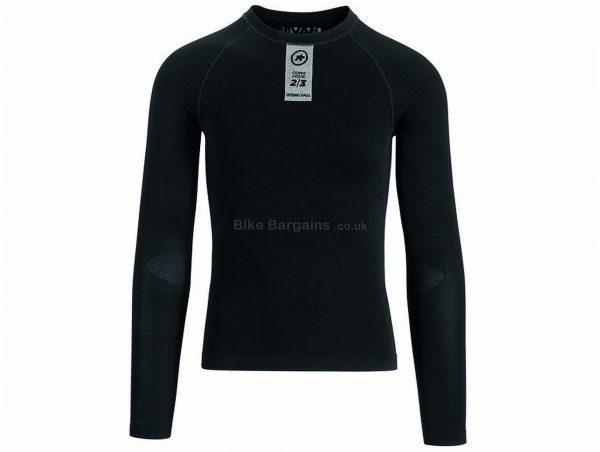 Assos Skinfoil Spring Fall Long Sleeve Base Layer L,XL, Black, Men's, Long Sleeve, Polypropylene