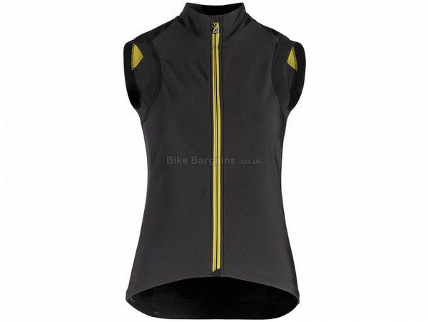 Assos Tiburu Laalalai Gilet XS,L,XL, Black, Yellow, Men's, Sleeveless, Polyester