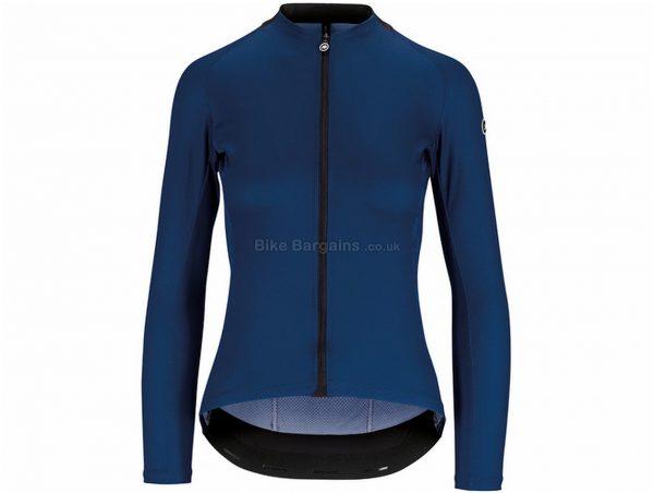 Assos Uma GT Ladies Long Sleeve Jersey M, Blue, Ladies, Long Sleeve, Polyester, Elastane
