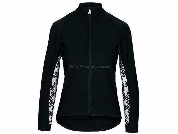 Assos Uma GT Ladies Winter Jacket XL, Black, White, Ladies, Long Sleeve, Polyester, Elastane