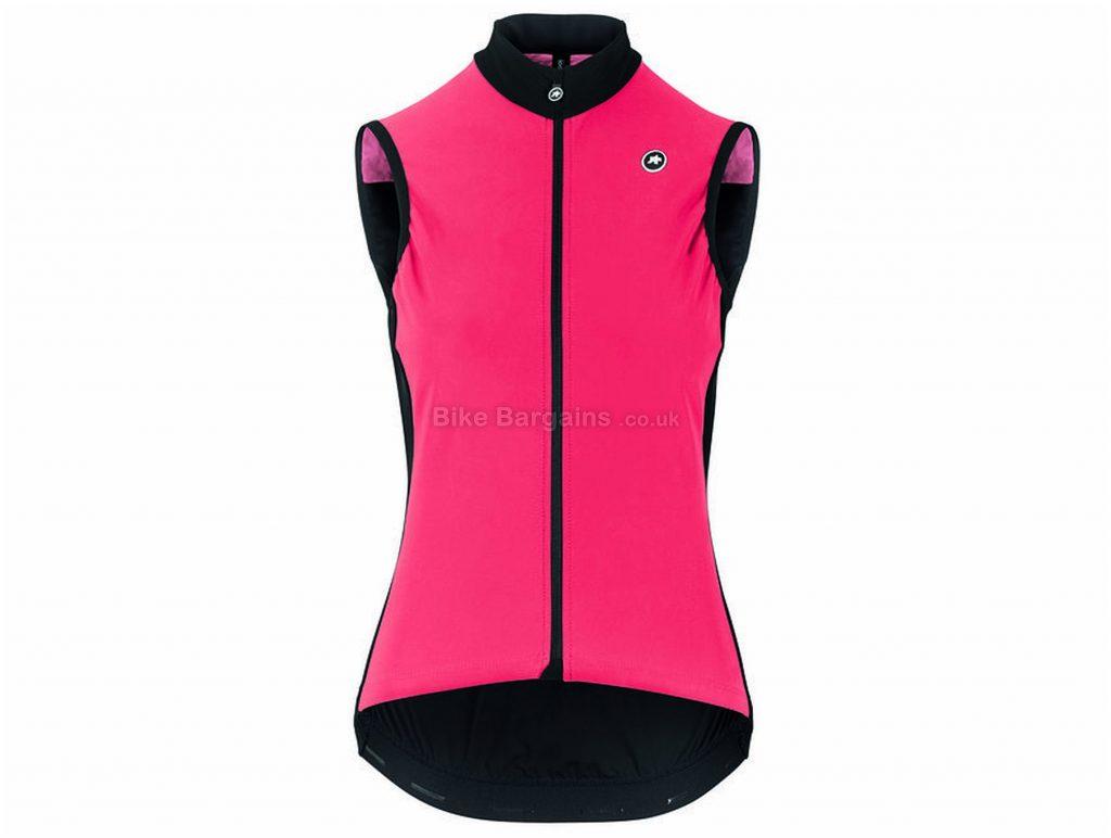 Assos Uma GT Spring Fall Airblock Ladies Gilet M,L,XL, Black, Pink, Ladies, Sleeveless, Polyester, Elastane