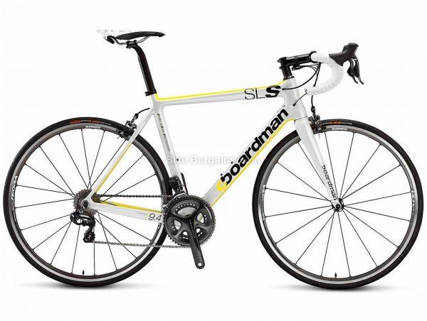 Boardman Elite SLS 9.4 Carbon Road Bike 2015 XL, White, Yellow, Black, Carbon Frame, 22 Speed, Caliper Brakes, Double Chainring, 700c wheels