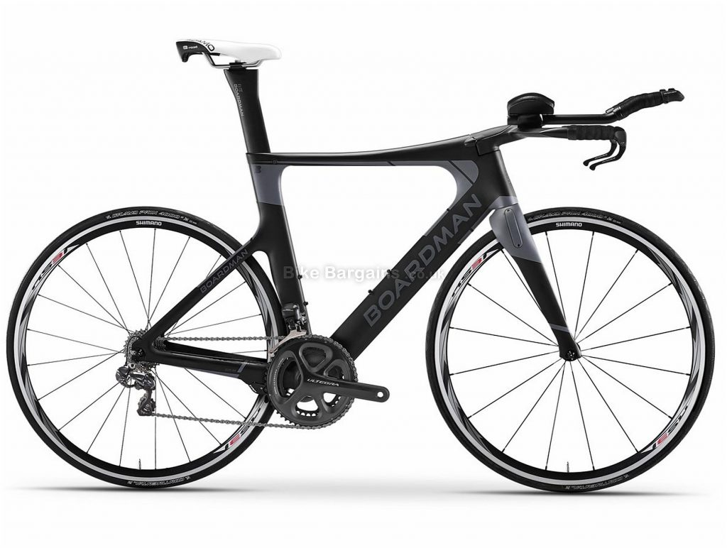 Boardman TTE Ltd Ultegra S Triathlon Road Bike 2020 S, Black, Carbon Frame, 22 Speed, 700c Wheels, Double Chainring, Caliper Brakes