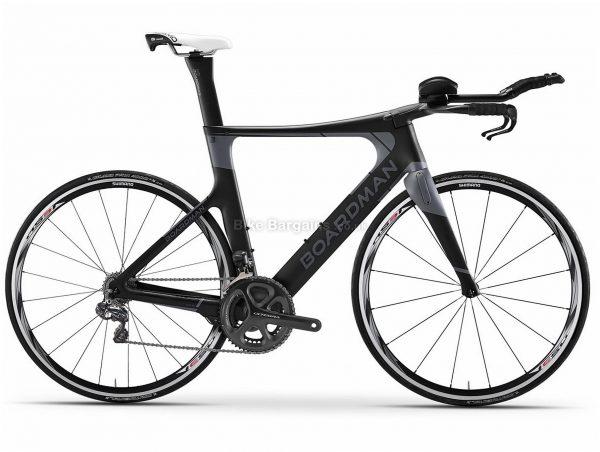 Boardman TTE Ltd Ultegra S Triathlon Road Bike 2020 S, Black, Carbon Frame, 22 Speed, 700c Wheels, Double Chainring, Caliper Brakes