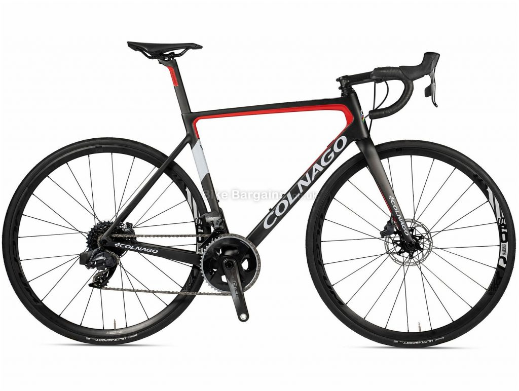 Colnago V3 Disc Ultegra Carbon Road Bike 2020 52cm, Black, Red, Carbon Frame, 22 Speed, Disc Brakes, Double Chainring, 700c wheels