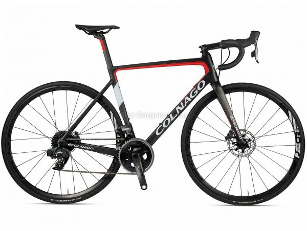 Colnago V3 Disc Ultegra Carbon Road Bike 2020 52cm, Black, Red, Carbon Frame, 22 Speed, Disc Brakes, Double Chainring, 700c wheels