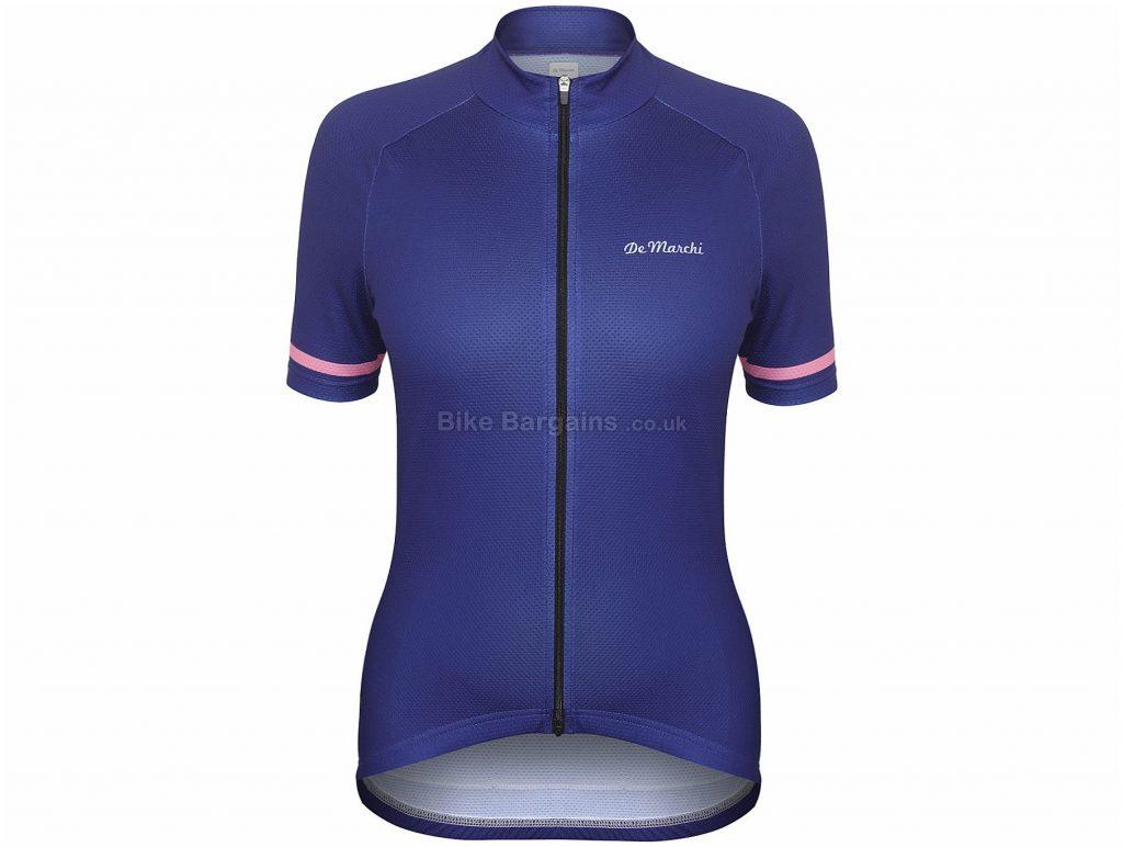 De Marchi Ladies Granturismo II Short Sleeve Jersey XL, Blue, Pink, Short Sleeve, Ladies, Polyester