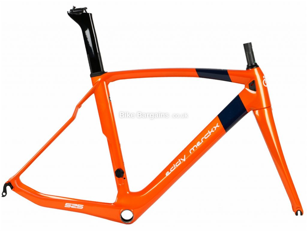Eddy Merckx EM525 Performance Caliper Carbon Road Frame 2019 M, Orange, Caliper Brakes, Carbon Frame