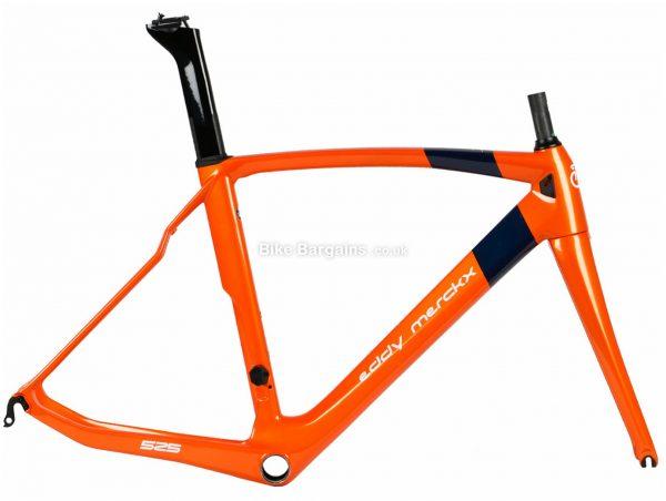 Eddy Merckx EM525 Performance Caliper Carbon Road Frame 2019 M, Orange, Caliper Brakes, Carbon Frame