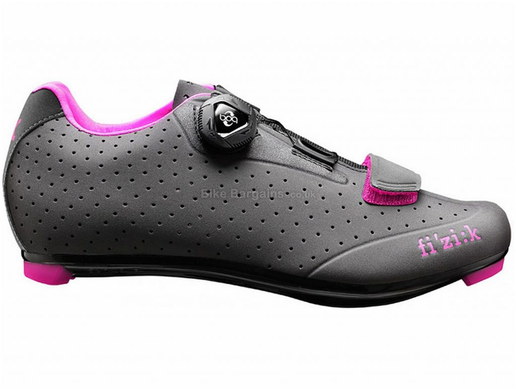 Fizik R5B Ladies Road Shoes 36, Grey, Pink, Boa & Velcro Fastening, Carbon