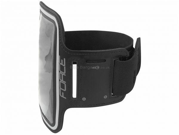 Force Phone Holder 150mm, 85mm, Black, Velcro, Nylon