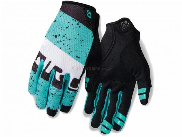Giro DND Full Finger Gloves 2016 XXL, Turquoise, Black, Full Finger, Men's, Polyamide, Polyester, Cotton