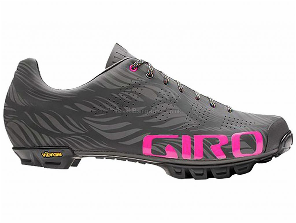 Giro Empire VR90 MTB Shoes 41,42,43,45,47 Grey, Pink, Carbon Sole, Laces, 315g