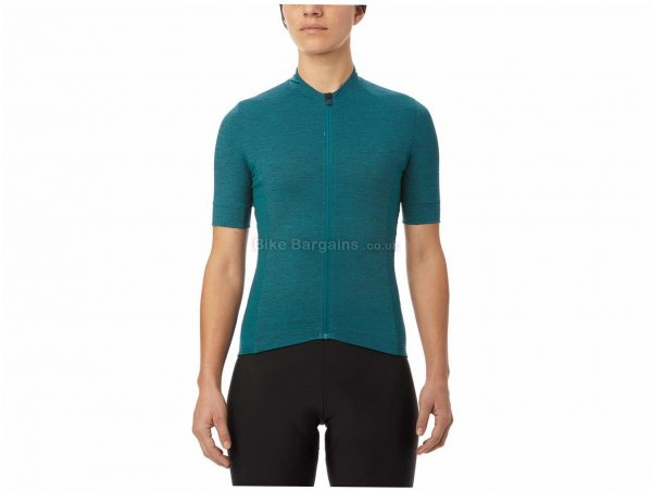 Giro Ladies New Road Short Sleeve Jersey XL, Turquoise, Short Sleeve, Ladies, Nylon, Elastane