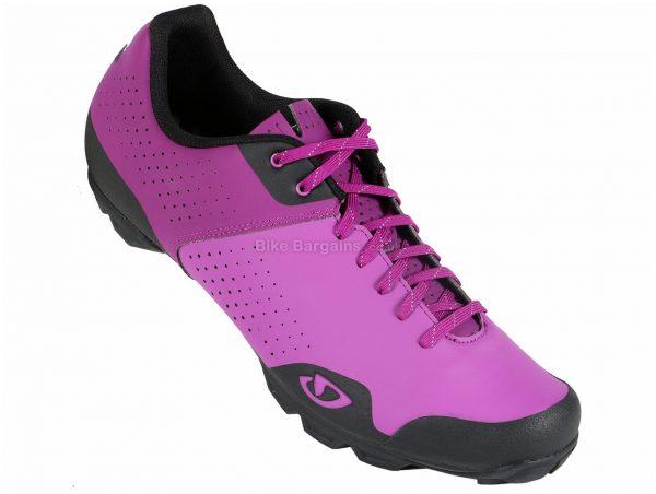 Giro Privateer Lace MTB Shoes 49, Purple, Black, Nylon Sole, Laces, 355g