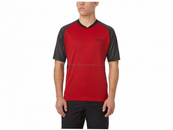 Giro Xar Short Sleeve Jersey XL, Red, Grey, Short Sleeve, Men's, Polyester, Elastane