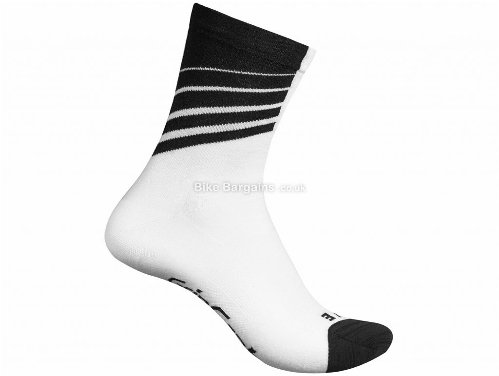 GripGrab Ladies Racing Stripes Socks XS, Black, Blue, Red, White, Ladies, Acrylic, Polyamide, Elastane, Polyester, Cotton
