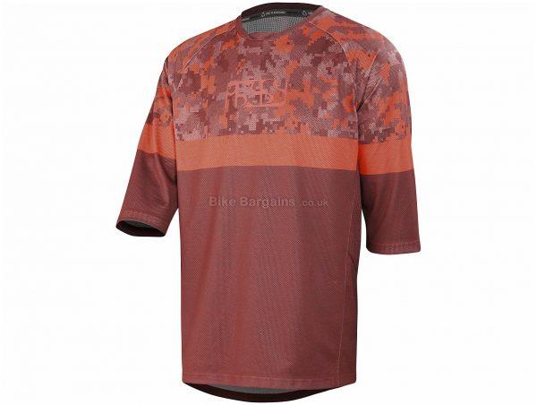 IXS Carve Air 3/4 Sleeve Jersey S, Black, Grey, 3/4 Sleeve, Men's, Polyester