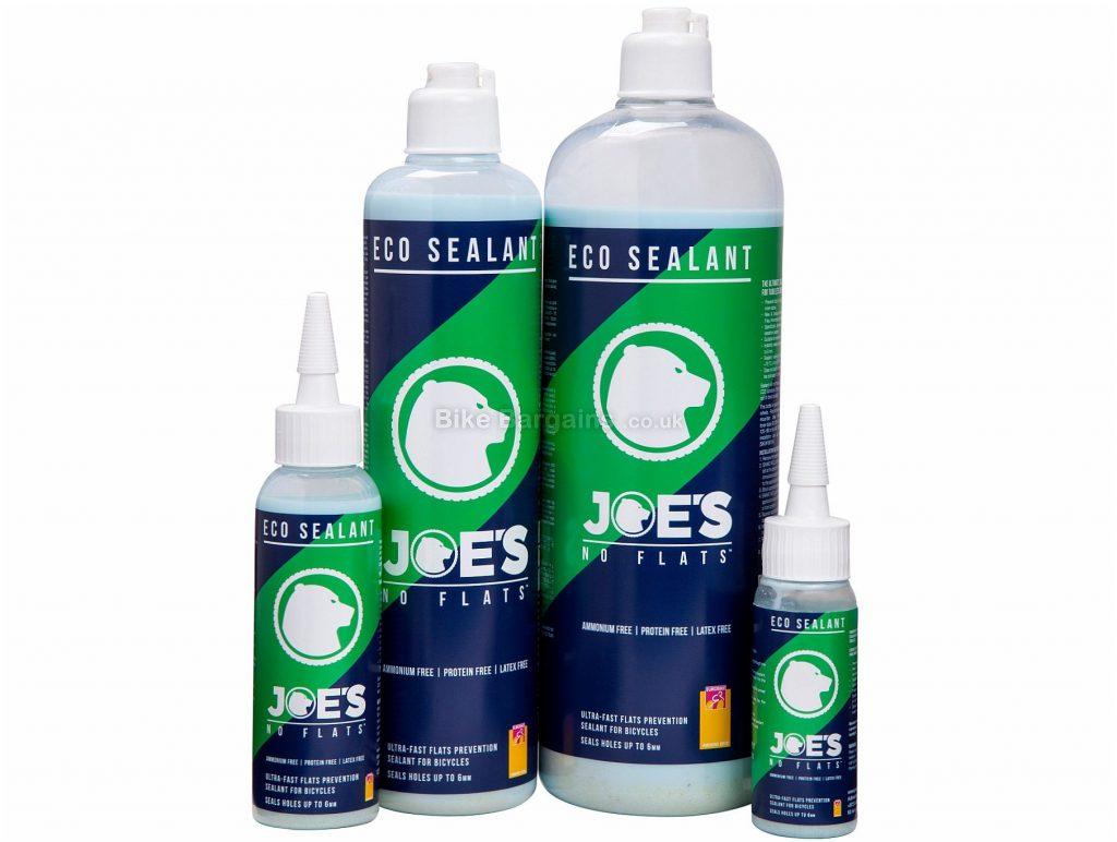 Joe's No Flats Eco Tyre Sealant 125ml, White, Blue, Green, Silicone