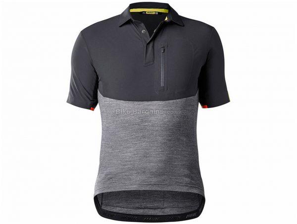 Mavic Allroad Short Sleeve Jersey S,M,XL, Grey, Men's, Short Sleeve, Polyester, Elastane, Merino, Wool, Polyester