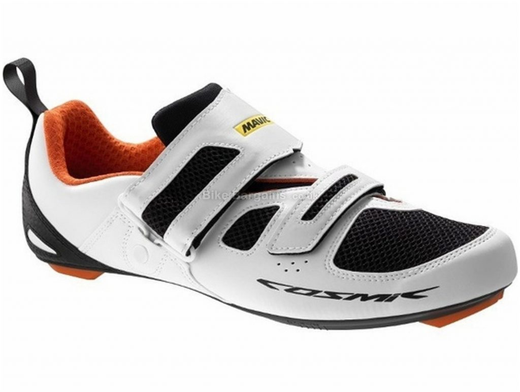 Mavic Cosmic Elite Triathlon Shoes 36,37, White, Black, Red, Velcro Fastening, Nylon