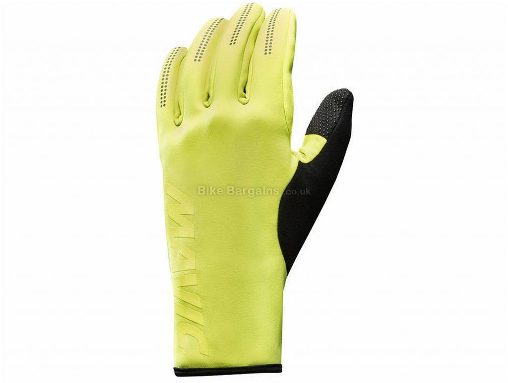 Mavic Essential Thermo Gloves XXL, Yellow, Black, Unisex, Full Finger, Polyester, Polyurethane