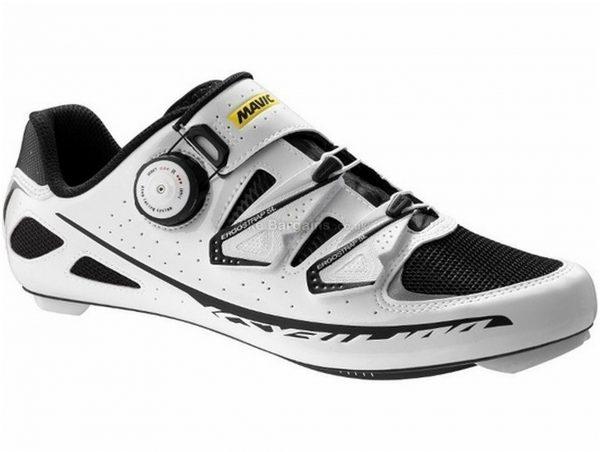 Mavic Ksyrium Ultimate Road Shoes 41, White, Black, Boa Fastening, 270g, Carbon