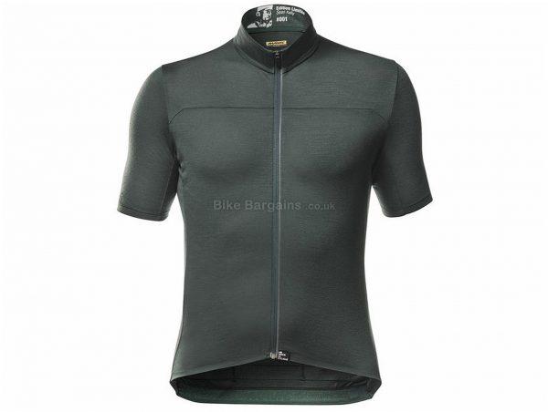 Mavic Sean Kelly Ltd Short Sleeve Jersey S, Grey, Men's, Short Sleeve, Polyester, Elastane, Merino, Wool, Polyester