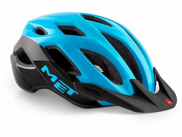 Met Crossover Helmet XL, Blue, Black, 16 vents, Polycarbonate