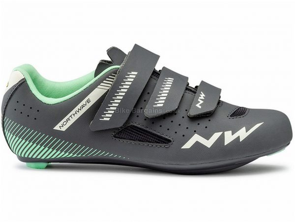 Northwave Core Ladies Road Shoes 36,37, Grey, Turquoise, Velcro Fastening, Carbon
