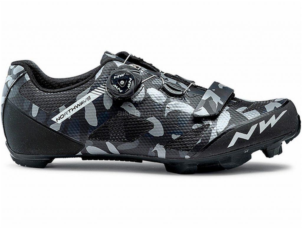 Northwave Razer MTB Shoes 41, Black, Grey, Boa & Velcro Fastening, Nylon