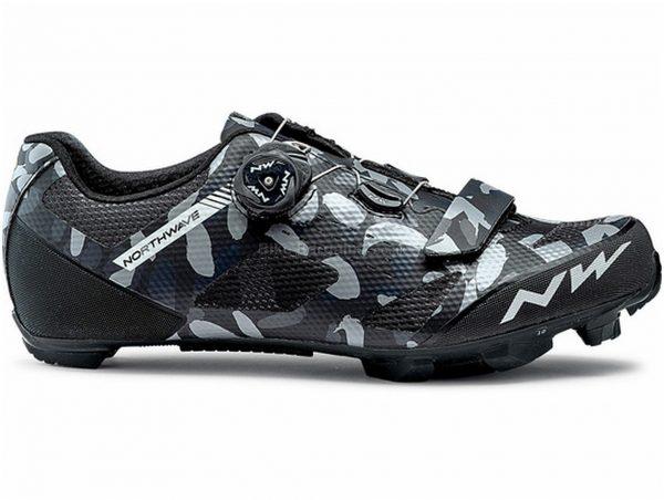 Northwave Razer MTB Shoes 37, Black, Grey, Boa & Velcro Fastening, Nylon