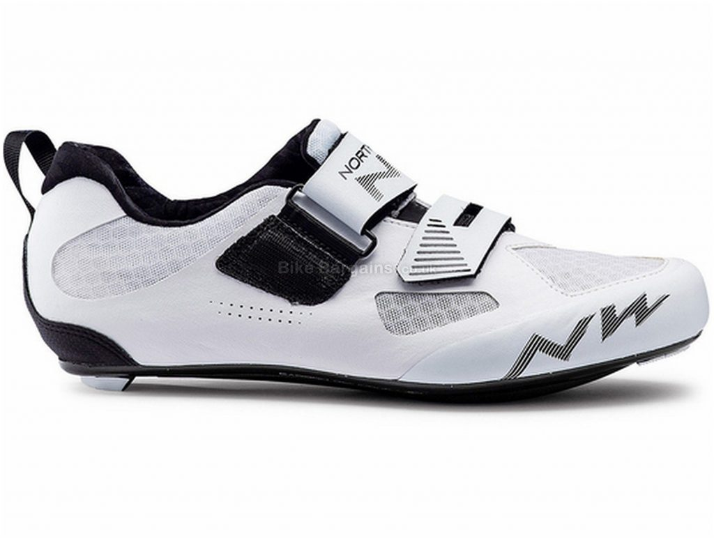 Northwave Tribute 2 Triathlon Shoes 38,47, White, Black, Velcro Fastening, Nylon