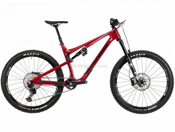 "Nukeproof Reactor 275 Elite SLX Carbon Full Suspension Mountain Bike 2020 XL, Red, Black, Carbon Frame, 12 Speed, 27.5"" Wheels, Single Chainring, Disc Brakes"