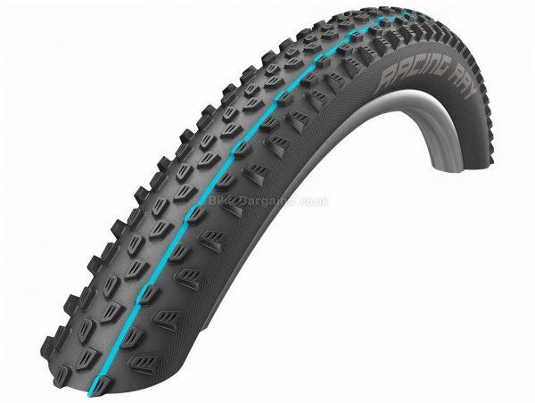 "Schwalbe Racing Ray TL Easy SnakeSkin Folding MTB Tyre 29"", 2.25"", Black, Blue, 565g, Kevlar, Rubber"